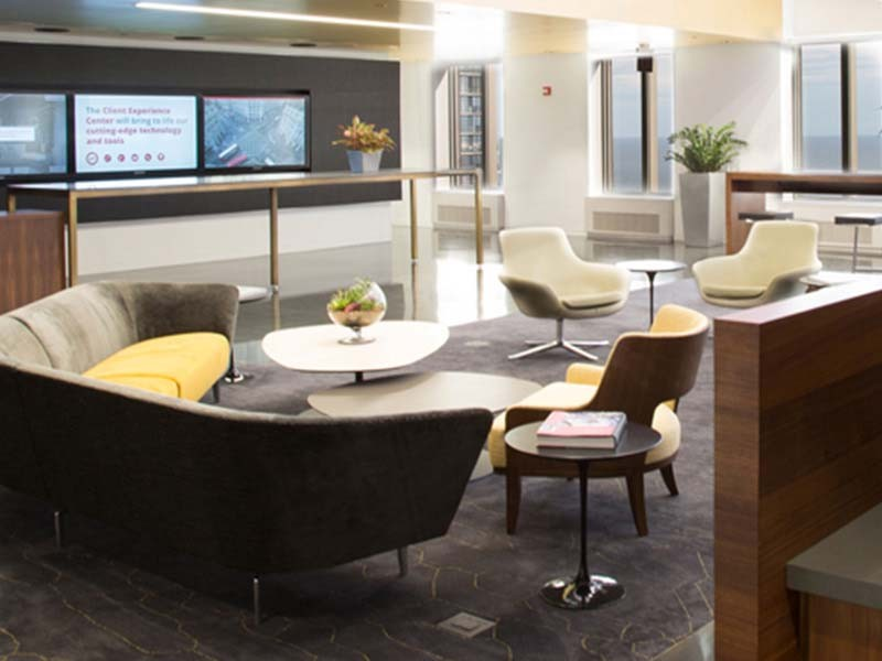 Coffee lounge in JLL Chicago headquarters
